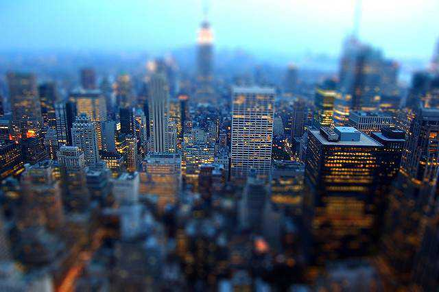 tilt-shift photography miniature Tilt-Shift Manhattan