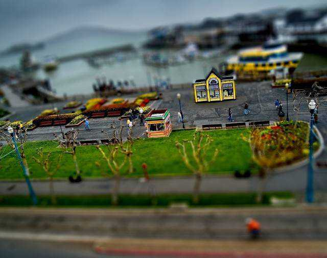 tilt-shift photography miniature Pier 39 Gets the Tilt