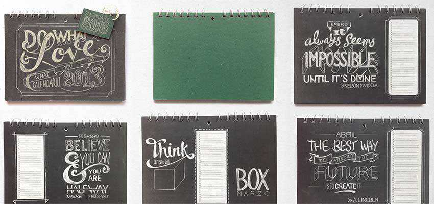 Chalkboard Lettering Stationery Set by Lisa Nemetz