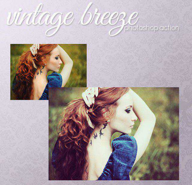 Vintage breeze action photoshop