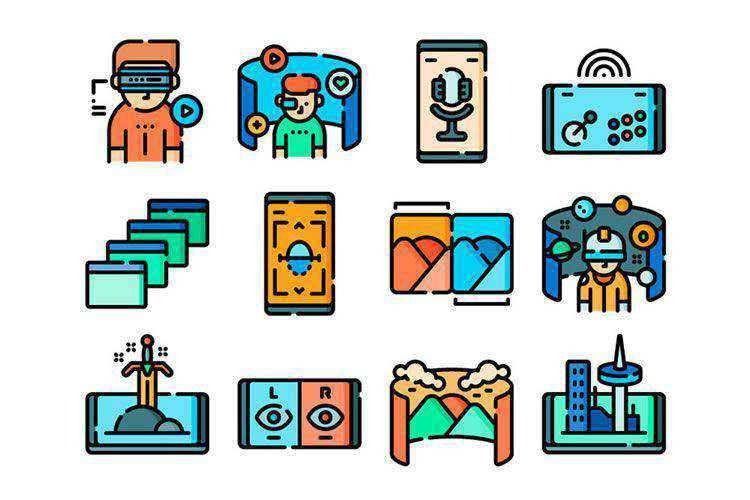 50 Free Virtual Reality Icons in PNG & SVG Formats