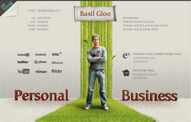 Basil gloo example unusual layout web design creative