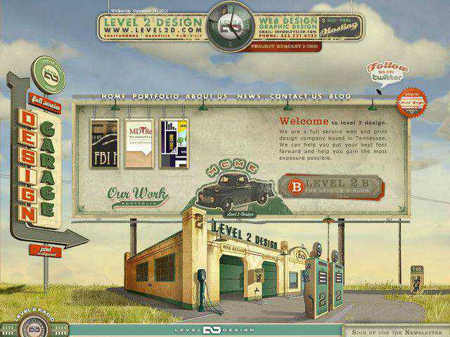 Level2 example unusual layout web design creative