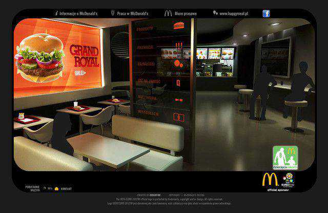 McDonalds example unusual layout web design creative