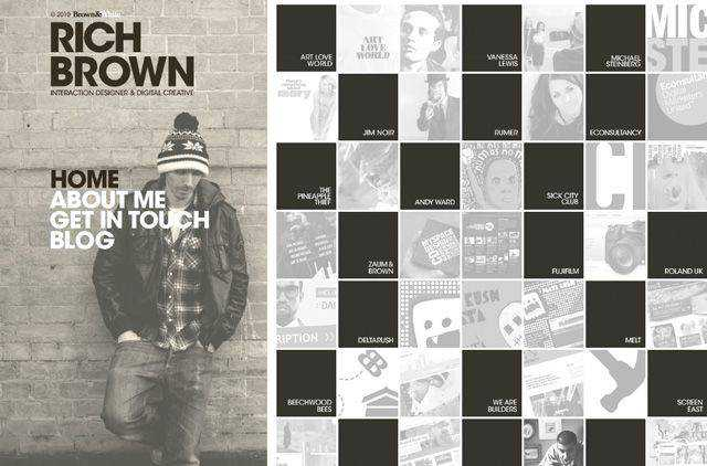 Rich Brown example unusual layout web design creative
