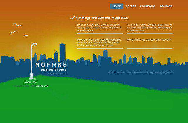 Nofrks example unusual layout web design creative