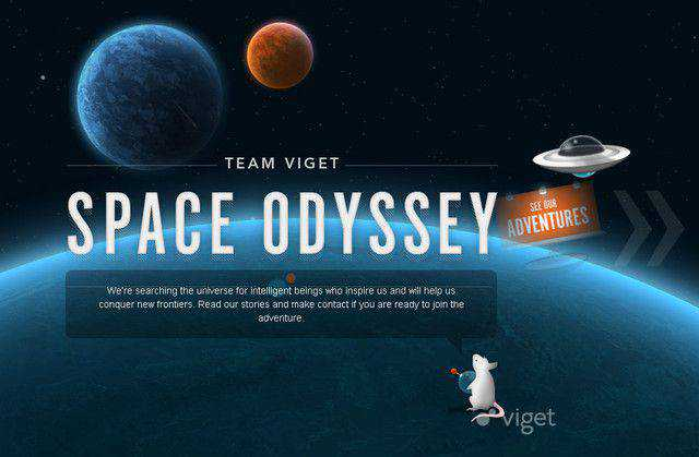 Team Viget example unusual layout web design creative