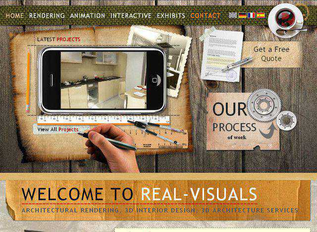 Real Visuals example unusual layout web design creative