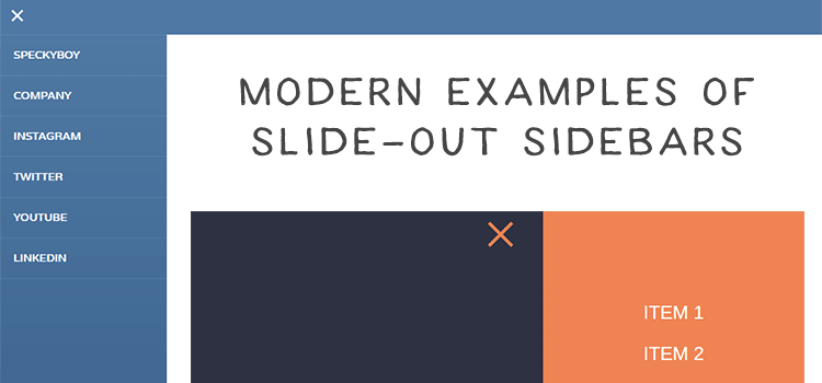 10 Modern Examples of Slide-Out Sidebars