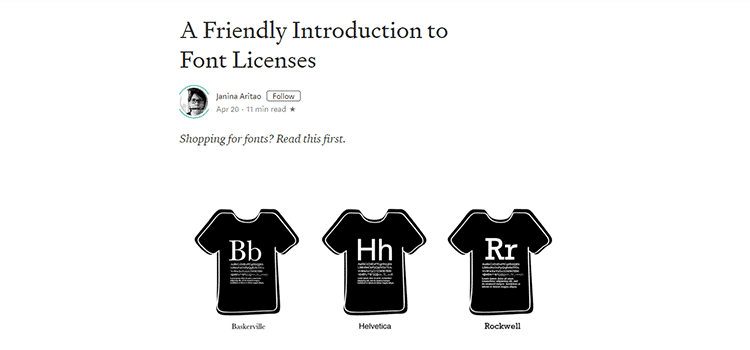 A Friendly Introduction to Font Licenses