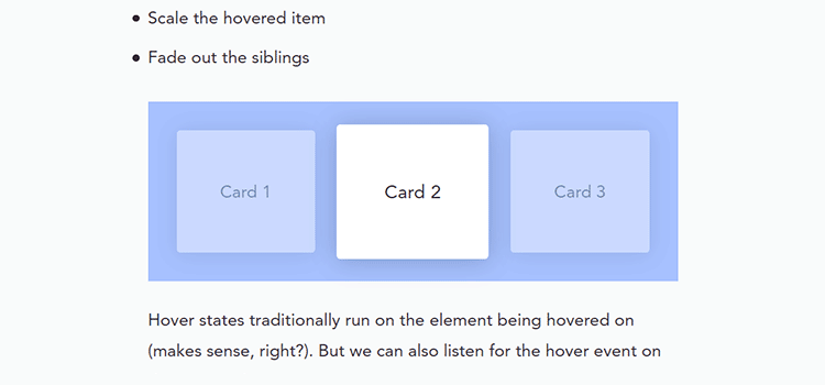 Fading out siblings on hover in CSS