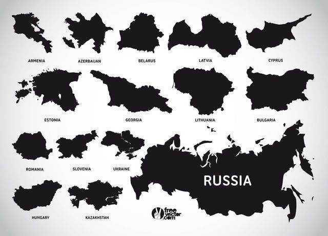 European Countries map template ai eps svg