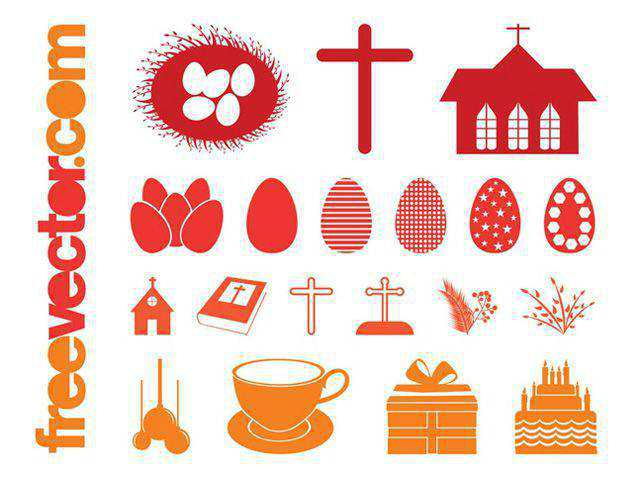 Easter Silhouettes Set fresh best free vector packs kits