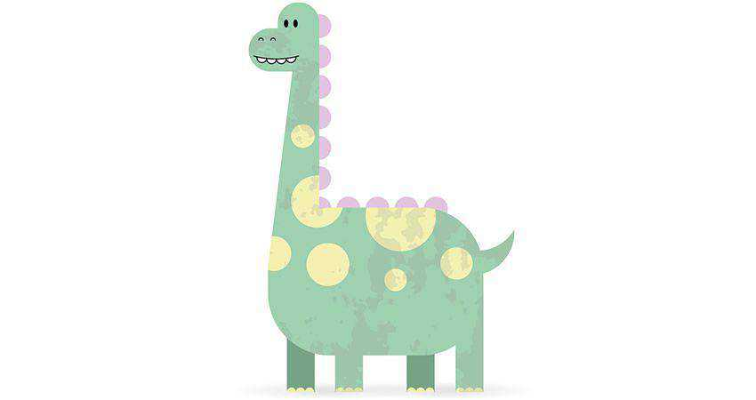 How To Create a Cute Dinosaur Character adobe illustrator tutorial