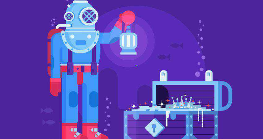 How to Create a Deep Diving Character Illustration adobe illustrator tutorial