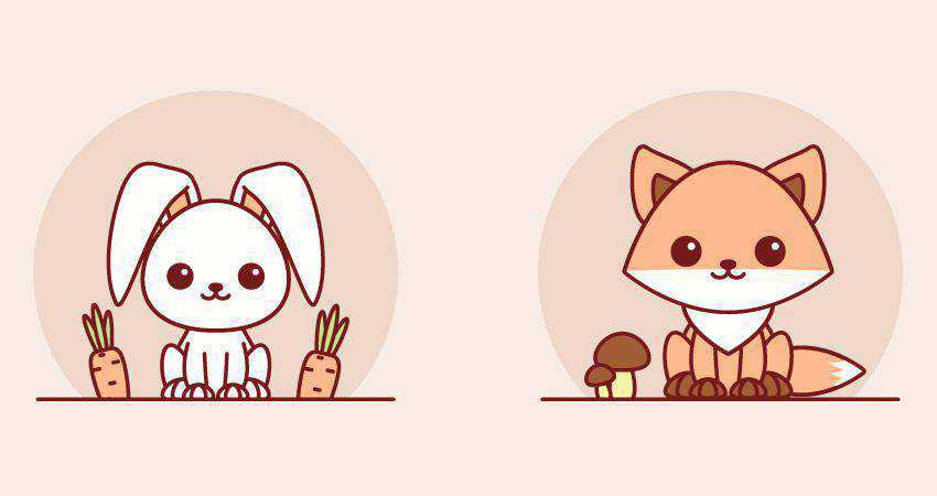 How to Create Easy Kawaii Animals adobe illustrator tutorial