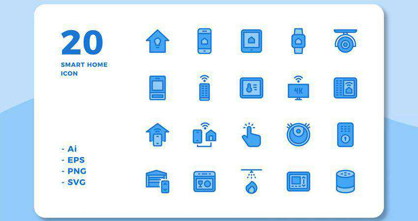 20 Smart Home Icons adobe illustrator tutorial