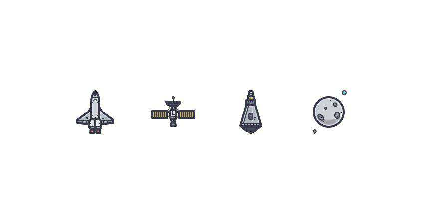 How to Create a Space Icon Set adobe illustrator tutorial