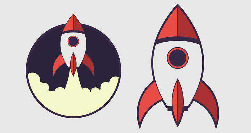 How To Draw a Rocket Icon adobe illustrator tutorial