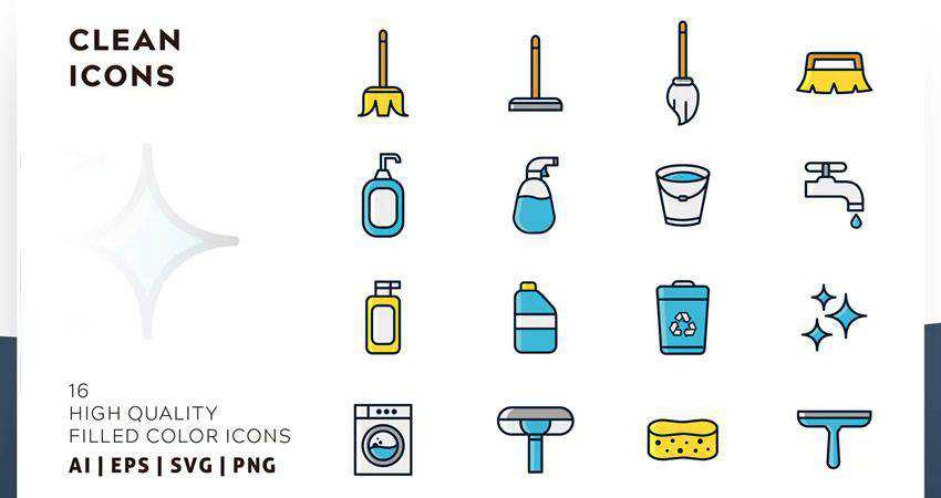 Clean Filled Color Icon Set adobe illustrator tutorial