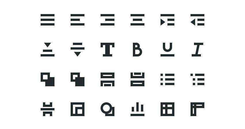 How to Create a WYSIWYG Text Editor Icon Set adobe illustrator tutorial