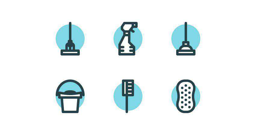 How to Create a Set of Cleaning Icons adobe illustrator tutorial