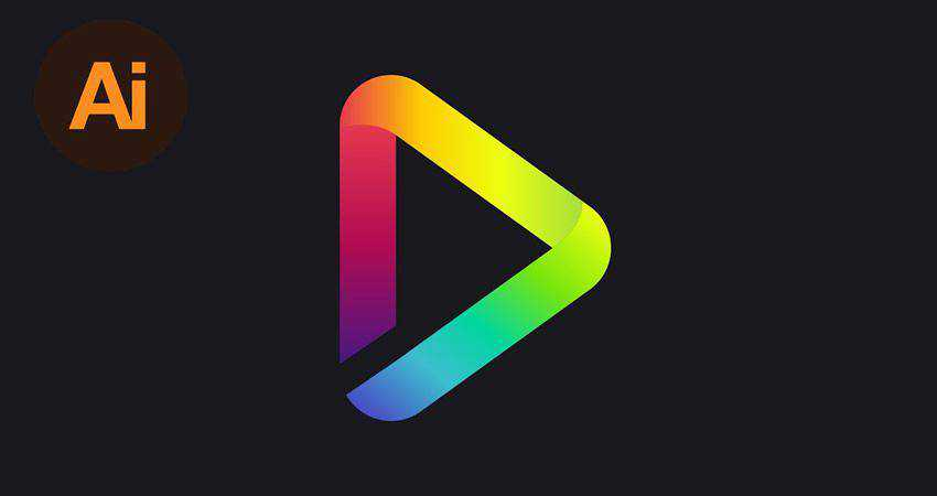 How to Create a Colorful Gradient Logo Design adobe illustrator tutorial