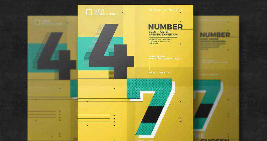 Number Poster Design