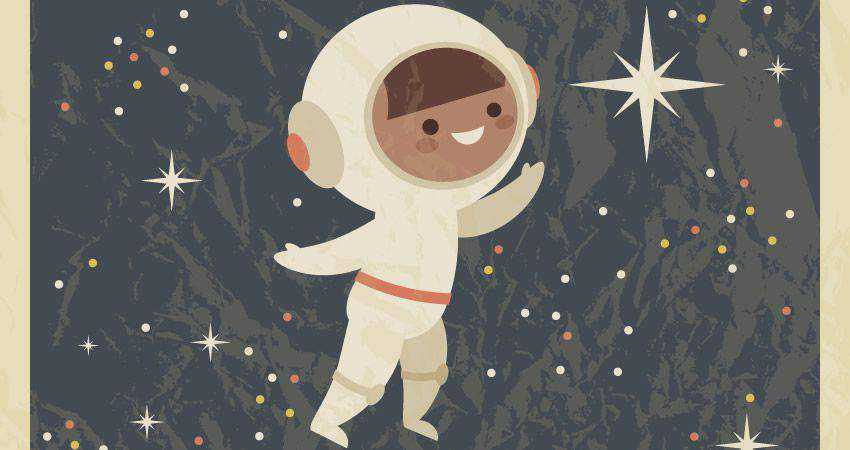 How to Create a Retro Poster with Astronaut Child adobe illustrator tutorial