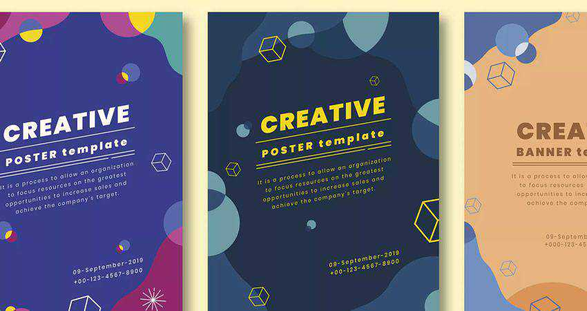Creative Poster Vector Templates adobe illustrator tutorial