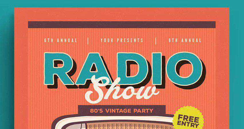 Retro Radio Event Flyer
