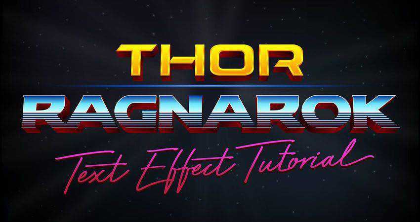 How to Recreate the Thor Ragnarok Style Text Effect adobe illustrator tutorial