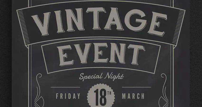 Vintage Event Flyer