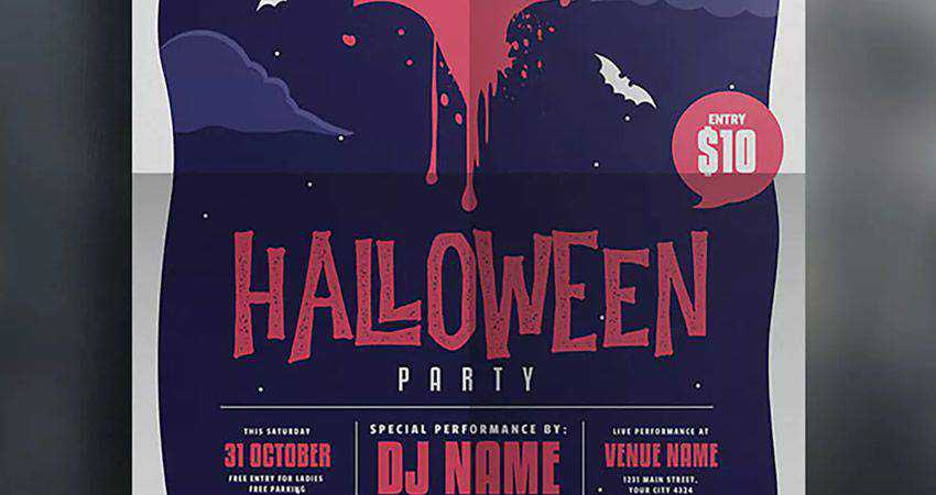 Halloween Event Flyer adobe illustrator tutorial
