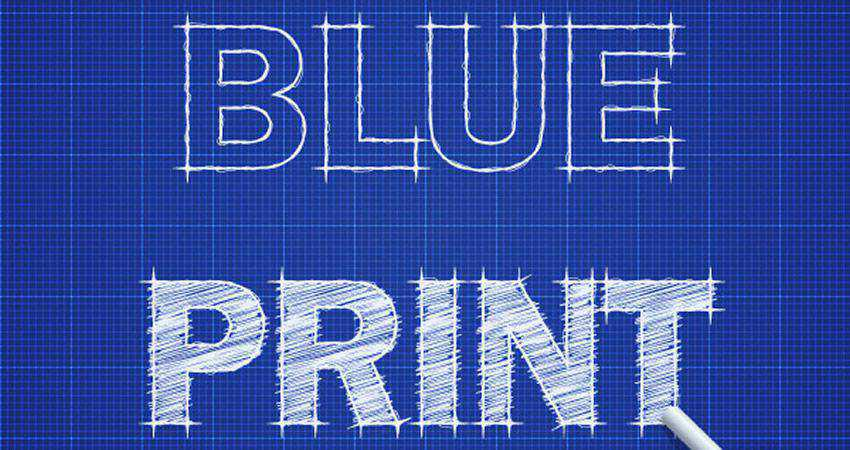 How to Create a Blueprint Text Effect adobe illustrator tutorial