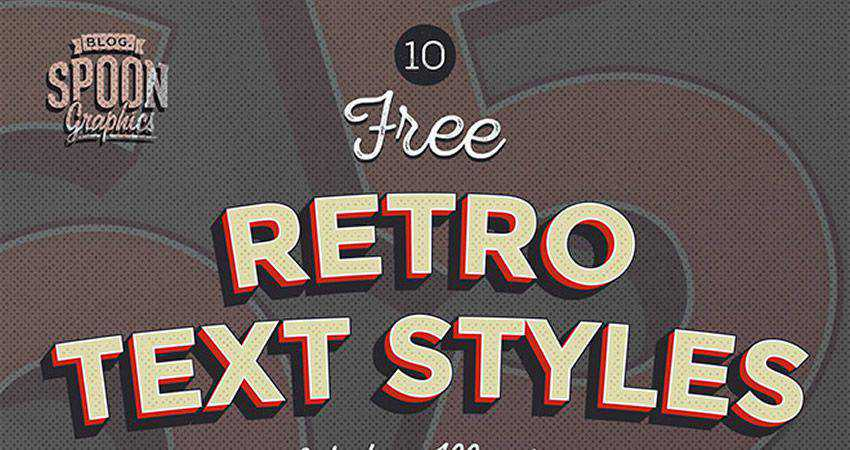 adobe illustrator Free Retro Text Effect Graphic Styles