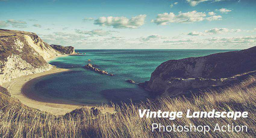 Landscape vintage retro effects free photoshop actions