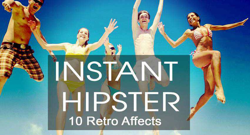 Instant Hipster vintage retro effects photo free photoshop actions