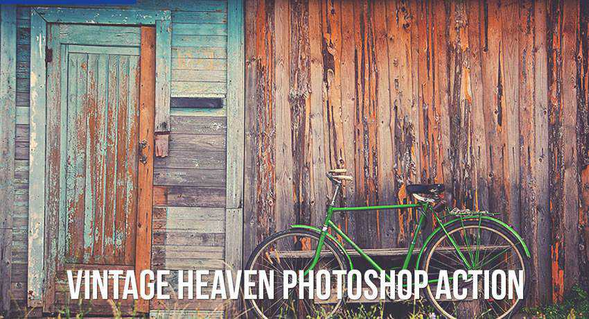 Heaven vintage retro effects free photoshop actions