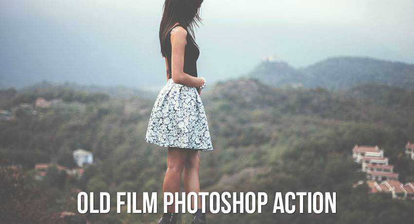 old movie film effects photo free photoshop actions
