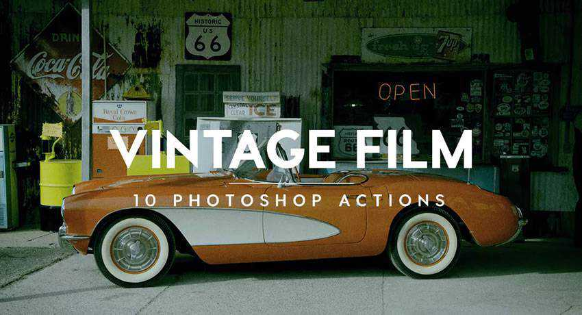 vintage movie film effects free photoshop actions