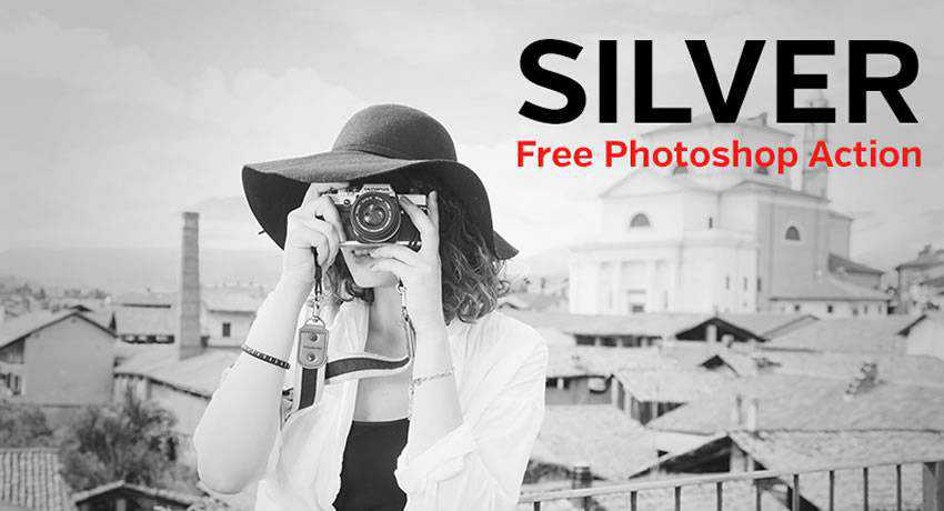 silver color effects free photoshop actions