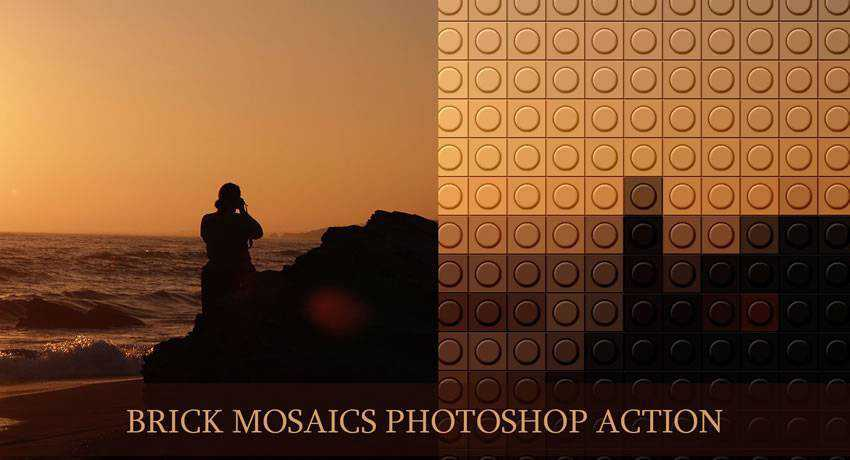 Brick Mosaics special effects photo free photoshop actions