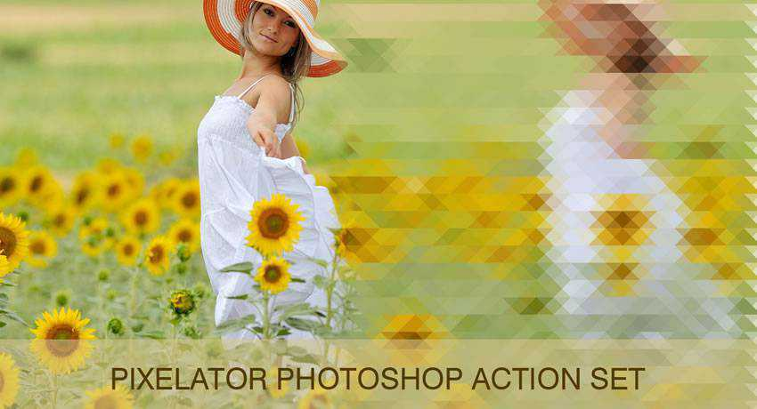 Pixelate special effects free photoshop actions