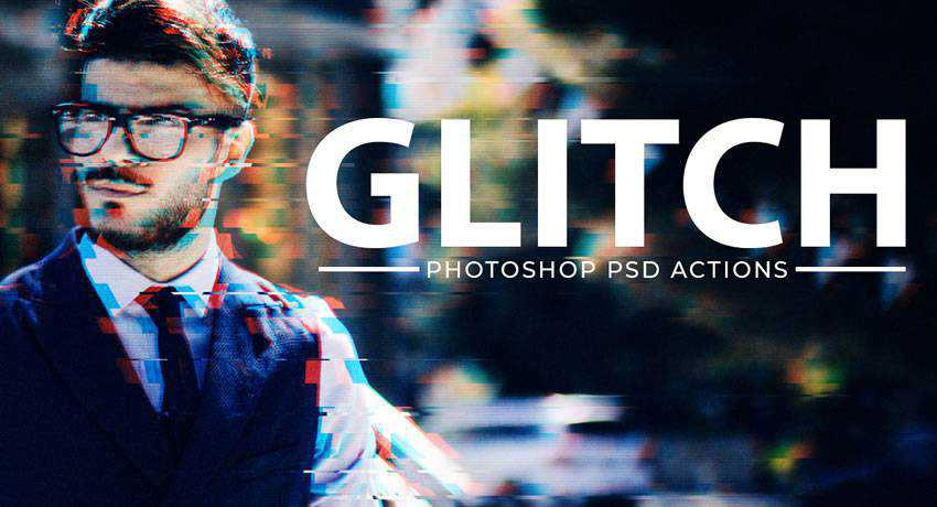 Glitch Effect PSD special effects photo free photoshop actions
