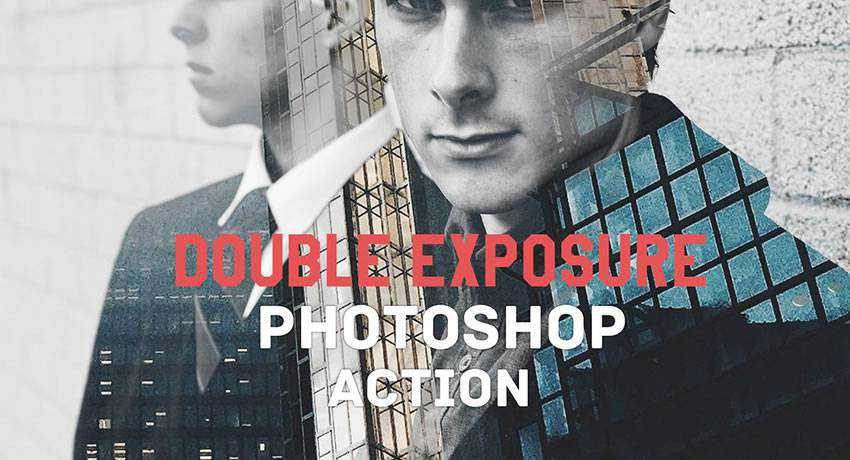 Double Exposure special effects free photoshop actions