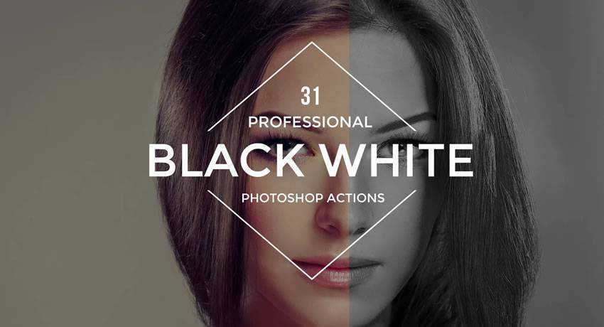 black & white effects free photoshop actions