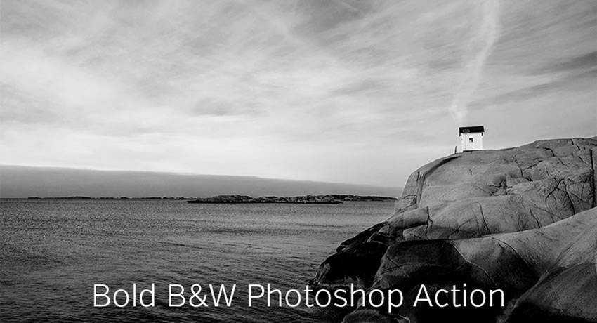 bold black white effects photo free photoshop actions