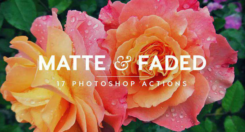 faded matte effects free photoshop actions