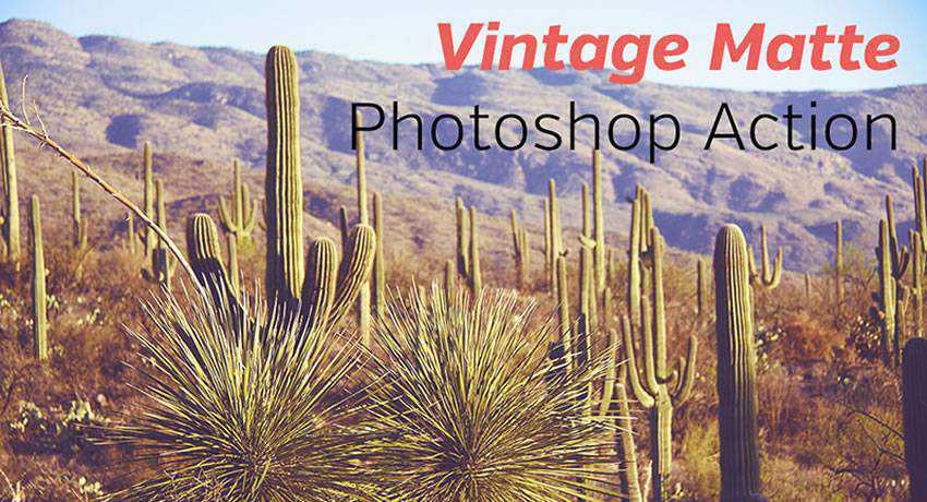 vintage matte effects photo free photoshop actions
